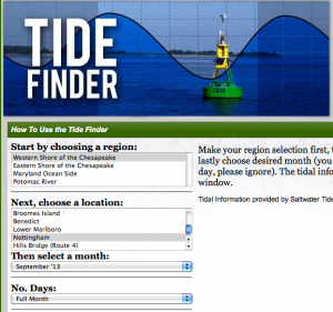 dnr tide finder
